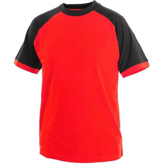 3e893a1481d6 Tričko s krátkým rukávem OLIVER černo-červené   Pracovní oděvy